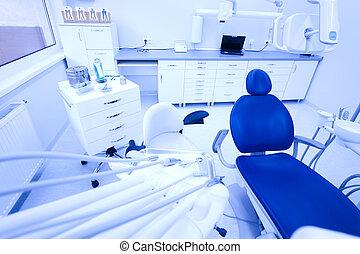 equipo, oficina del dentista