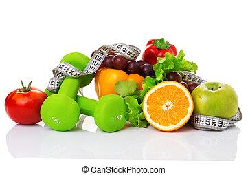 equipo salud, y, alimento sano