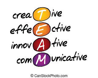 equipo, siglas, concepto, empresa / negocio