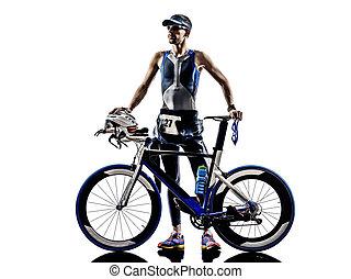 equipo, triatlón, atleta, hierro, hombre