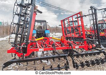 equipo, tyumen., adicional, rusia, tractor.