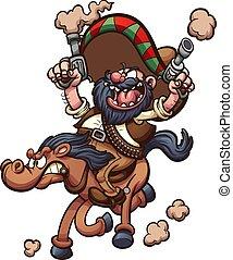 equitación, caballo, mexicano, vaquero