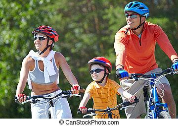 equitación, en, bicycles