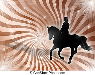 Equitation in the lights