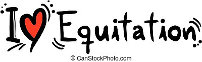 Equitation love - Creative design of equitation love