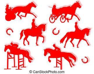 Equitation silhouette