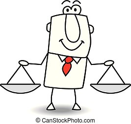 equity and justice - this man is a metaphor of the equity,...