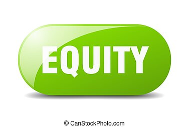 equity button. sticker. banner. rounded glass sign - equity ...
