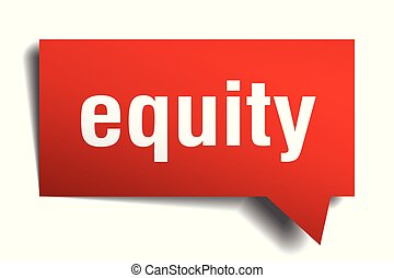 equity red 3d speech bubble