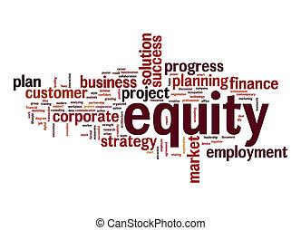 Equity word cloud