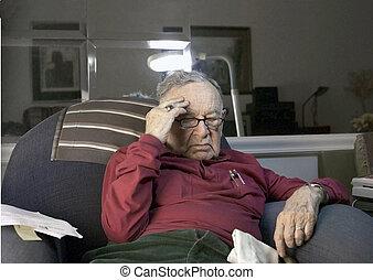 erő, idősebb ember, alatt
