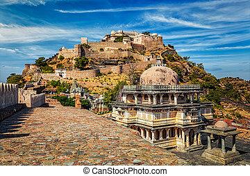 erőd, india, kumbhalgarh