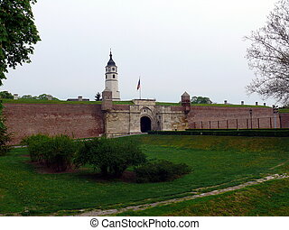 erőd, kalemegdan, alatt, belgrád, szerbia