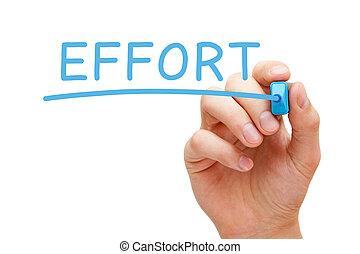 erőfeszítés, kék, könyvjelző