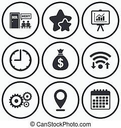 erőforrás, bemutatás, business., emberi, bizottság