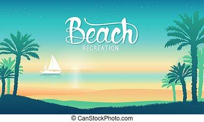 erőforrás, tengerpart, fényűzés, bóra, polinézia, napnyugta, szünidő, csónakázik, kilátás, romantikus, otemanu, bóra, overwater, illustration., árnykép, francia