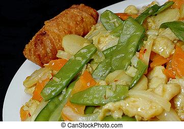 erős indiai fűszer, csirke