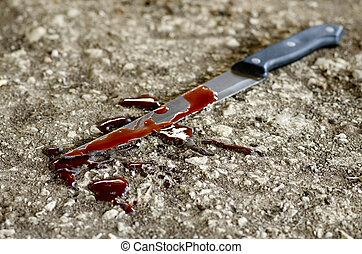 erőszak, kés