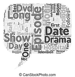 ER DVD Review text background wordcloud concept