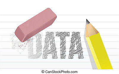 erase data concept illustration design graphic