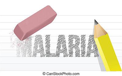 erase malaria disease illustration design
