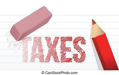 erase taxes concept illustration design