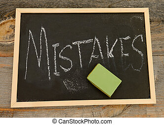 Erase your mistakes concept - Erase or forget mistakes...