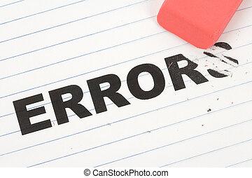 eraser and word error, concept of change