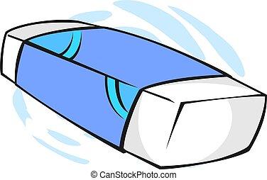 Eraser - Illustration of an eraser with cover