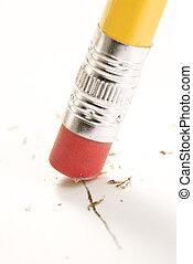 Eraser erasing. - Close up of eraser erasing.