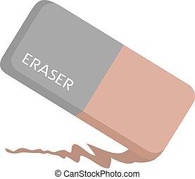 eraser flat illustration style draw