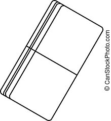 Eraser icon, outline style
