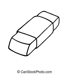 Eraser icon. Outlined