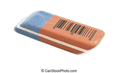 eraser is isolated on a white background