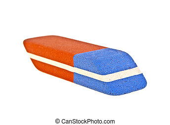 Eraser isolated on a white background
