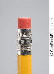 Eraser of pencil.