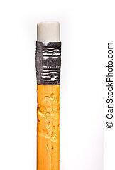 Eraser on a pen