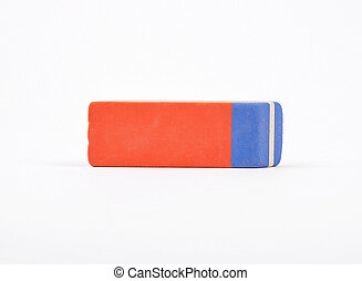 Eraser on white background