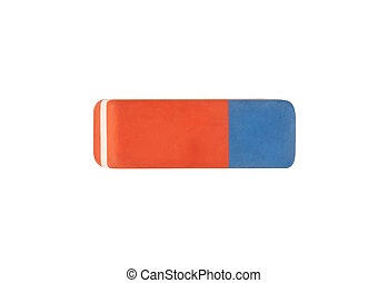 eraser on white background with clipping path