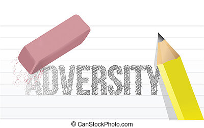 erasing adversity concept illustration design