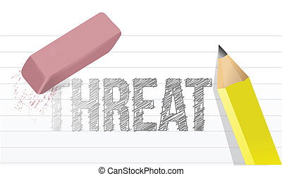 erasing threat concept illustration design over a white...