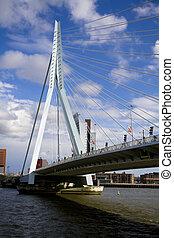 Erasmus Bridge in Rotterdam - Erasmus Bridge the city of...