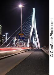 Erasmus bridge night