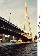 Erasmus Bridge. Rotterdam, South Holland, Netherlands.