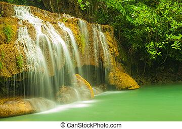 Erawan level 2. - Erawan waterfall in Kanchanaburi, Thailand...