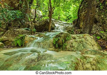 Erawan waterfall.