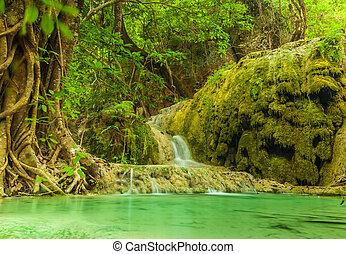 erawan, waterfall.