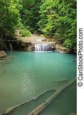 Erawan Waterfall in Kanchanaburi, Thailand - Erawan...