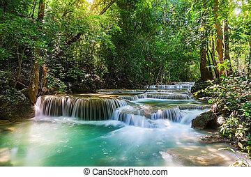 Erawan Waterfall in National Park, Thailand
