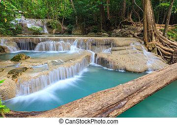Erawan waterfall level 1.